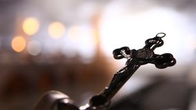 Christ statue in the Church stock video footage