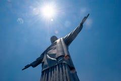 Christ statue in Corcovado in Rio de Janeiro Royalty Free Stock Photos