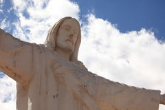 Christ Statue of Cuzco Stock Photography