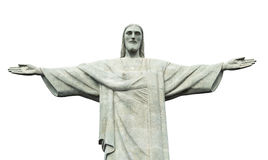 Christ statue isolated on white background Royalty Free Stock Photography