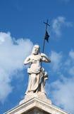 Christ statue in perast, Montenegro royalty free stock photos