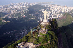 Christ statue in Rio de Janeiro,. 