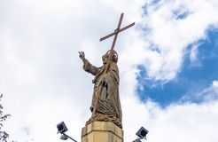 Christ Statue on top of Cerro San Bernardo Hill - Salta, Argentina royalty free stock photography