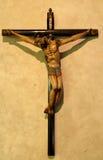 Christ su una traversa nella vecchia missione Fotografia Stock Libera da Diritti