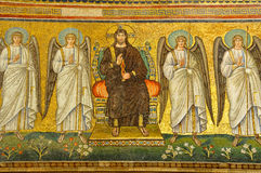Christ surrounded by angels. A unesco world heritage mosaic of christ surrounded by 4 angels Royalty Free Stock Photos