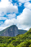 Christ on the top of the Rock in Rio de Janeiro, Brazil Stock Photography