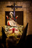 Christ & Virgin sculpture in Holy Week procession Royalty Free Stock Images