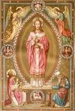 Christ vom alten Liturgiebuch stockfotos