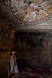 Christain ksiądz w Abuna Yemata kościół w Etiopia Zdjęcia Royalty Free