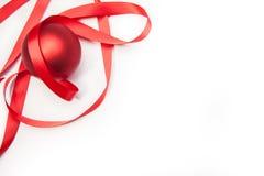 Christamas Ball And A Ribbon Royalty Free Stock Photo