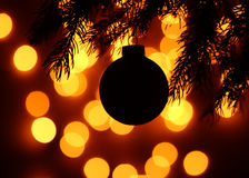 Christamas ball background Royalty Free Stock Image