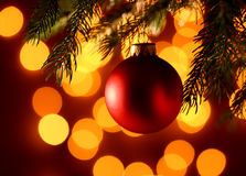 Christamas ball light  background Stock Photography