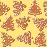 Christamas cookies seamless pattern. Christmas cookies seamless pattern with light background Royalty Free Stock Images