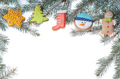 Christamas decoraation with cookies Royalty Free Stock Photos