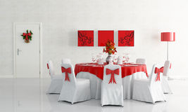 Christamas dining room Stock Photography