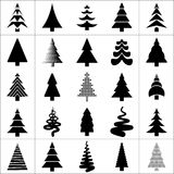 Christamas tree silhouette design. Vector. Stock Images