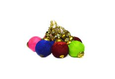 Christams colored balls. Christmas colored balls for hanging on tree stock photo