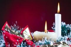 Christams Geschenke und Schnee Lizenzfreie Stockbilder