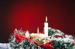 Christams Geschenke und Schnee Stockfotografie