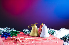 Christams gifts and snow Royalty Free Stock Image
