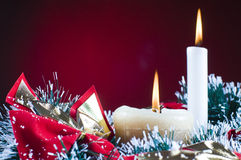 Christams gifts and snow Royalty Free Stock Images