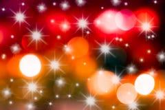 Christams-Sternenlichthintergrund Lizenzfreies Stockbild