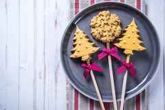 Christams tree and star candy Stock Images