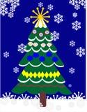 Christas Baum draußen Stockbild