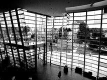 Christchurch art gallery. View to the outside from the lobby. royalty free stock photography