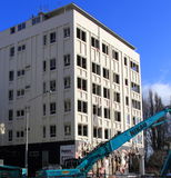 Christchurch building demolition Royalty Free Stock Photos