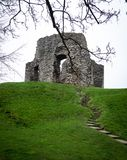 Christchurch castle - 12`th century ruin. 12 century bailey and motte style castle ruin in Christchurch, Dorset UK Stock Photography