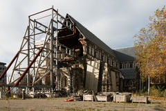 Christchurch Cathedral demolished by earthquake in February 2010 Royalty Free Stock Photo