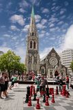 Christchurch Cathedral before the Earth quake Stock Photos