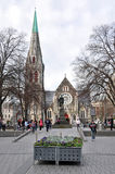 Christchurch Cathedral just 3 Days before Earthquakes. stock image
