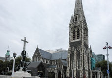 Christchurch Cathedral in New Zealand, October 2010 Stock Images