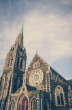Christchurch Cathedral in Vintage Colour Effects Stock Photography
