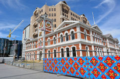 Christchurch central stolpe - kontor - Nya Zeeland Arkivbild