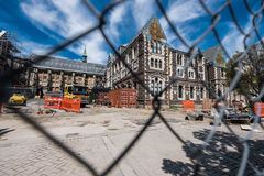 Christchurch city center after earthquake Royalty Free Stock Photo