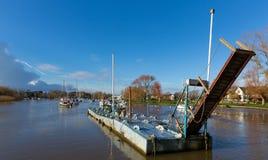 Christchurch Dorset England UK River Stour. River Stour Christchurch Dorset England UK with boats and blue sky Stock Photography