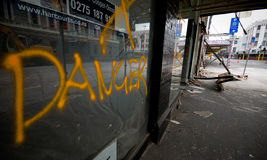 Christchurch earthquake Royalty Free Stock Images
