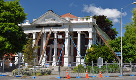 Christchurch Earthquake - Baptist Church Damage Stock Photo