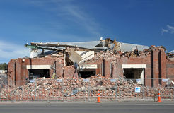 Christchurch Earthquake - Brick Factory Destroyed Stock Photos
