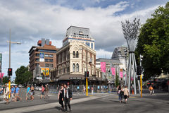 Christchurch Earthquake - Business As Usual Royalty Free Stock Image