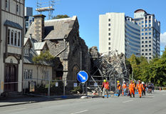 Christchurch Earthquake - Canterbury Provincial Royalty Free Stock Images