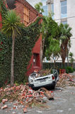 Christchurch Earthquake - Car Crushed Royalty Free Stock Photo