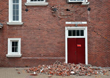 Christchurch Earthquake - Cathedral Grammar Closes Royalty Free Stock Photography