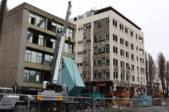 Christchurch Earthquake demolition Stock Photos