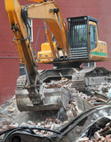 Christchurch Earthquake Excavator, New Zealand Stock Photo