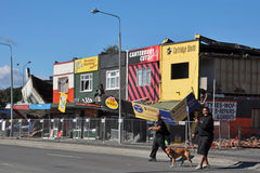 Christchurch Earthquake - Linwood Avenue Shops. 09 March 2011 - Christchurch, New Zealand Stock Photos