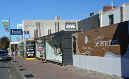 Christchurch Earthquake Rebuild - Merivale Shops. royalty free stock photo